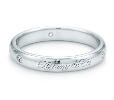 Bague alliance avec diamants de Tiffany & Co
