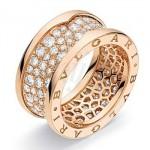 Bague B-Zero1 Or Rose Diamants - Bulgari