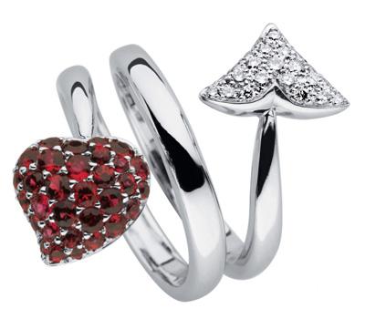 Bague de Dior joaillerie avec rubis et diamants
