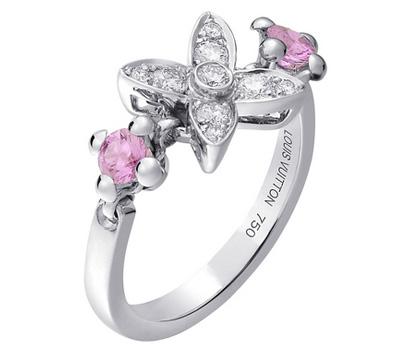 Bague fleur de Louis Vuitton joaillerie avec diamants