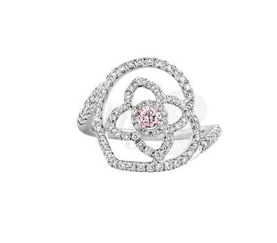 Bague Lotus Diamant Rose - De Beers