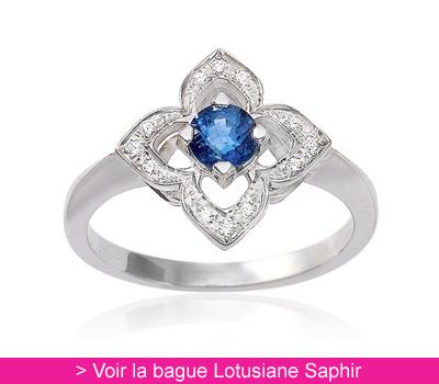 Bague Saphir Lotusiane - Gay Frères sur Belancy.com