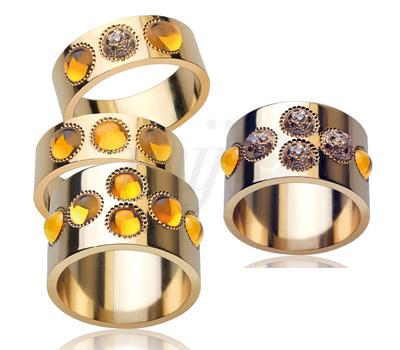 Bagues Pétillante Diamants Champagne - Lalique