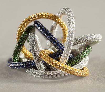 Boucles d'Oreilles Love Colors Georland