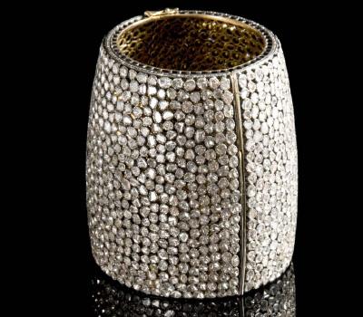 Bracelet Manchette Diamants aux Enchères Artcurial