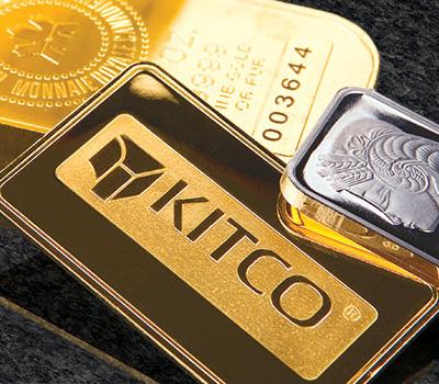 Métaux précieux : lingots d'or et de platine