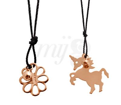 Pendentifs Enfant Flower et Unicorn - Ginette NY