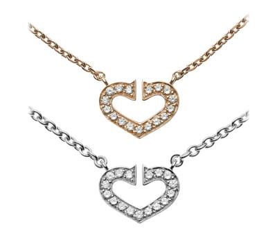 Pendentifs avec des diamants coeur - Cartier