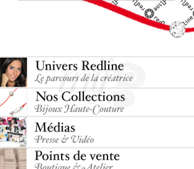 Redline Bijoux Paris sur iPhone