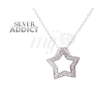 Collier Starlight Silver Addict en Vente Privée