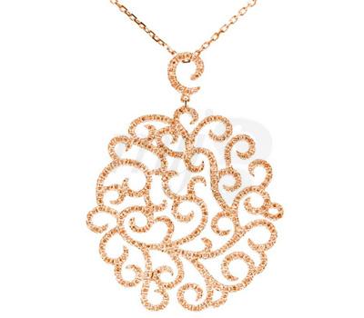 Collier Princesse Or Rose et Diamants - Lisonia Joaillerie