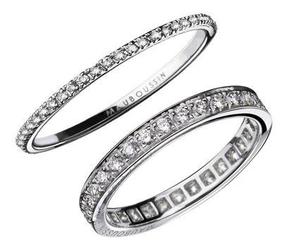Alliances avec des diamants - Mauboussin