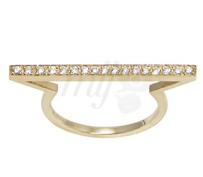 Bague Barette Or Jaune et Diamants - Morganne Bello