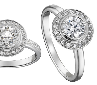 Bague solitaire de Cartier en diamants