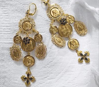 Boucles d'Oreilles Crucifix - Dolce & Gabbana Joaillerie