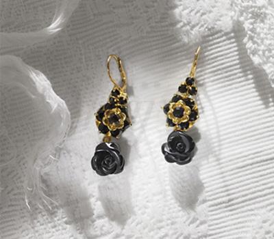 Boucles d'Oreilles Roses - Dolce & Gabbana Joaillerie