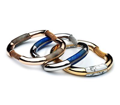 Bracelets Labradorite, Lapis et Howlite - Eddie Borgo