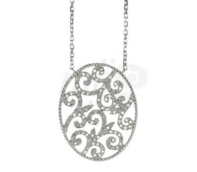 Collier Charmante Or Blanc et Diamants - Bijou Lisonia