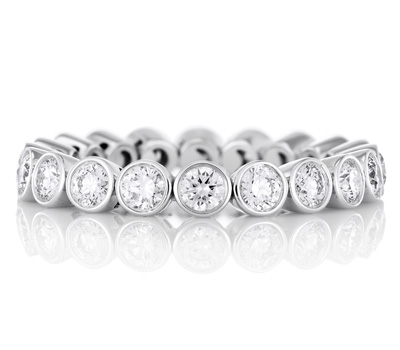 Alliance diamants en or blanc de De Beers