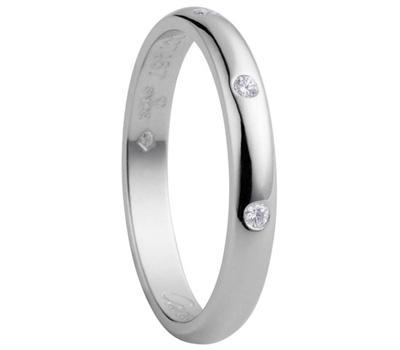 Alliance de mariage diamant en platine de Cartier