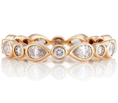Alliance petal en or rose et diamants - De Beers
