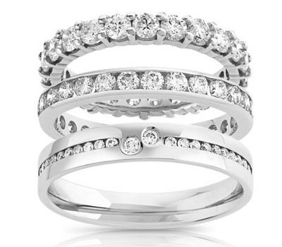 Alliances en diamants des bijouteries Maty