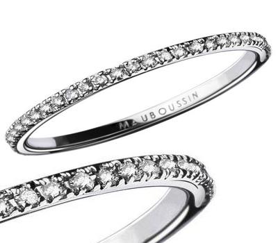Bague alliance en diamants de Mauboussin