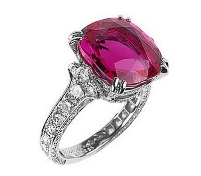 Bague avec un rubis et des diamants de Cartier