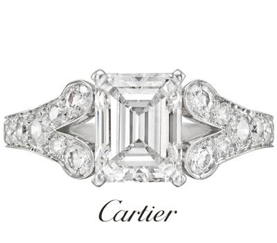 Bague de fiançailles Cartier Joaillerie