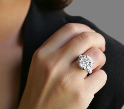 Bague or blanc et diamants pas cher