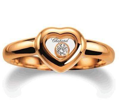 Bague en or jaune et diamant de Chopard