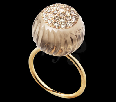 Bague Pompon Collection Deux - Bliss Rose Joaillerie