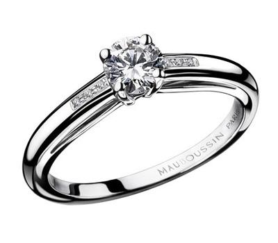 Bague solitaire en diamant de Mauboussin