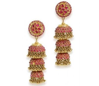 Bijoux indiens : boucles d'oreilles