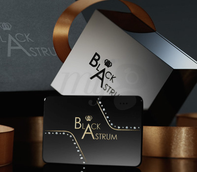 Carte de Visite et Packaging Black Astrum Diamants