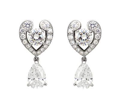 Boucles d'oreilles en diamant de Cartier