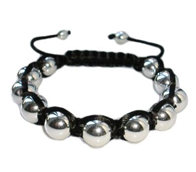 Bracelet Shamballa en argent pour homme