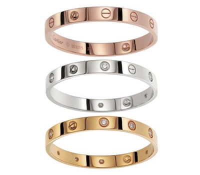 Bracelet en or Love de Cartier