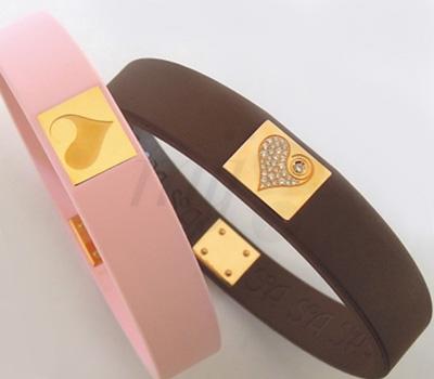 Bracelets Coeurs Caoutchouc Or - Soa Création
