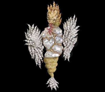 Broche Dragon Perles Baroques - Buccellati