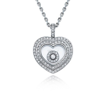 Collier coeur avec diamants de Chopard