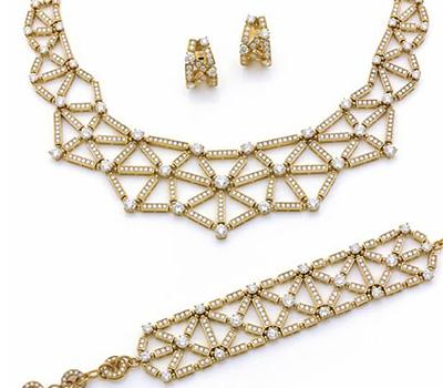 Parure de bijoux en or et diamants de Bulgari