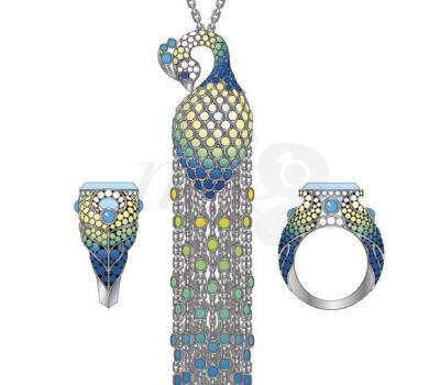 Parure Paon - Lalique Joaillerie 2012
