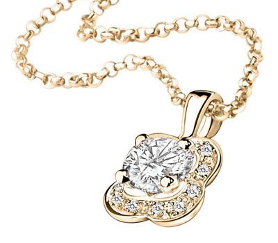 Pendentif diamants Chance of Love de Mauboussin