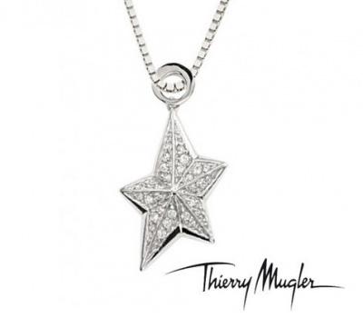 Pendentif étoile en argent de Thierry Mugler