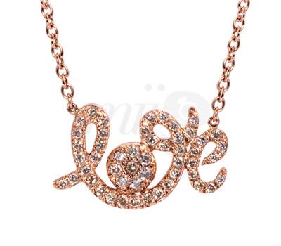 Pendentif Forever Love Or Rose - Seijna Joaillerie