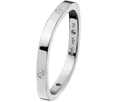 Alliance carrée pour hommes en or blanc et diamants de Dinh Van