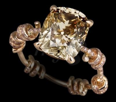 Bague Barbelés Diamant Chocolat - Lorenz Bäumer