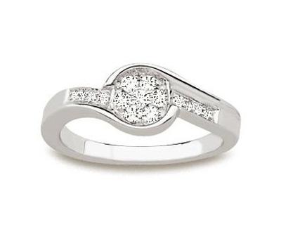Bague en diamants et or blanc pas cher
