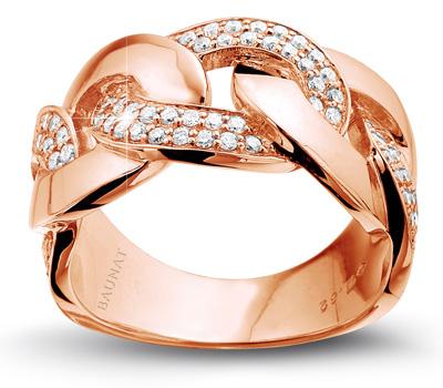 Bague diamant en or rose de Baunat
